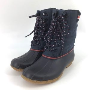 NEW Goop X Sperry Saltwater Tall Lace-Up Duck Boot
